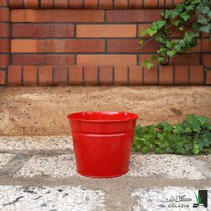 گلدان فلزی سطلی